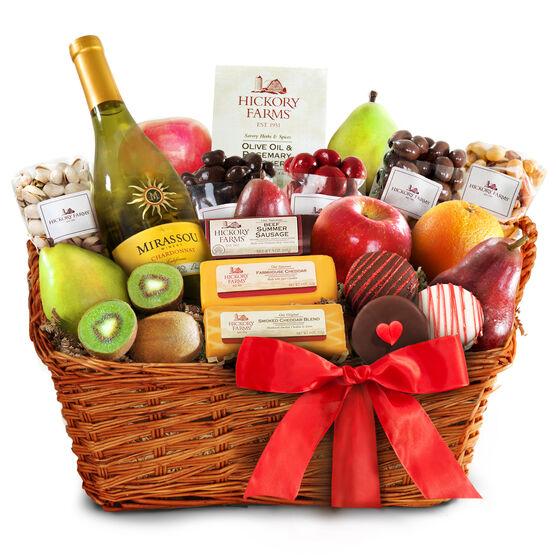 wine & fruit baskets, Ideas