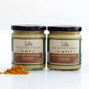 100% natural simply spicy brown mustard