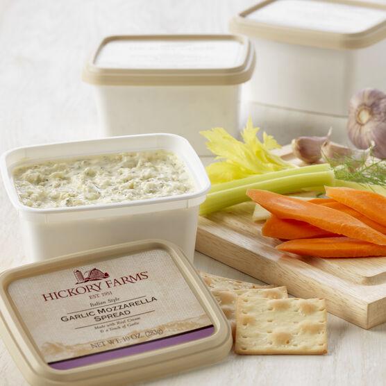 garlic mozzarella cheese spread - 3 pack