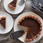 velvety chocolate pumpkin cheesecake