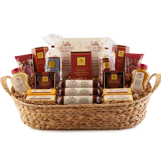 Meat and cheese gift baskets hickory farms hickory farms grand hickory holiday collection negle Choice Image