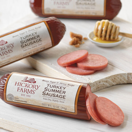 Brown Sugar & Honey Turkey Summer Sausage 3 Pack