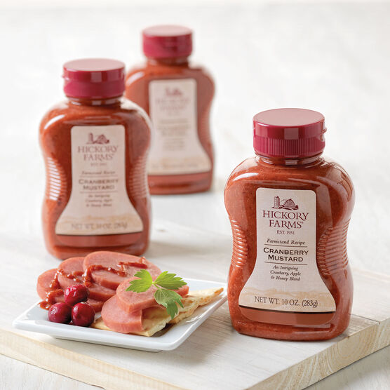 Hickory Farms Cranberry Mustard 3 Pack