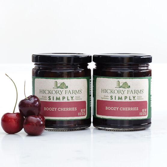 boozy cherries braised in brandy and amaretto
