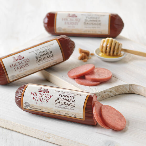 brown sugar & honey turkey summer sausage - 3 pack