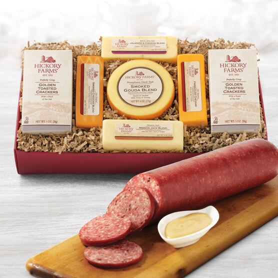 Hickory Party Summer Sausage & Cheese