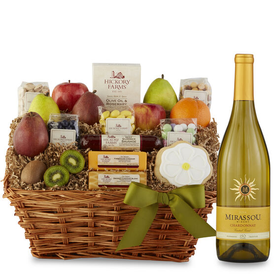 Wine gift baskets wine gifts with food hickory farms spring delight gift basket spring delight negle Image collections