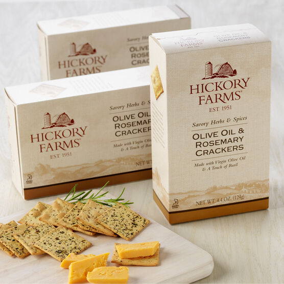 olive oil & rosemary crackers - 3 pack