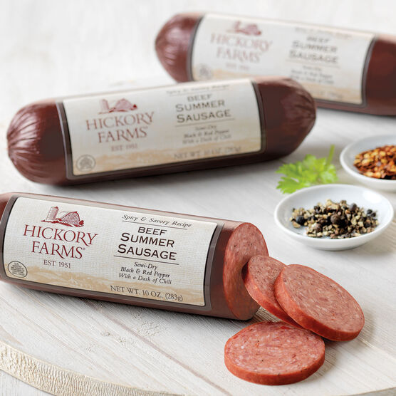 Spicy & Savory Beef Summer Sausage 3 Pack