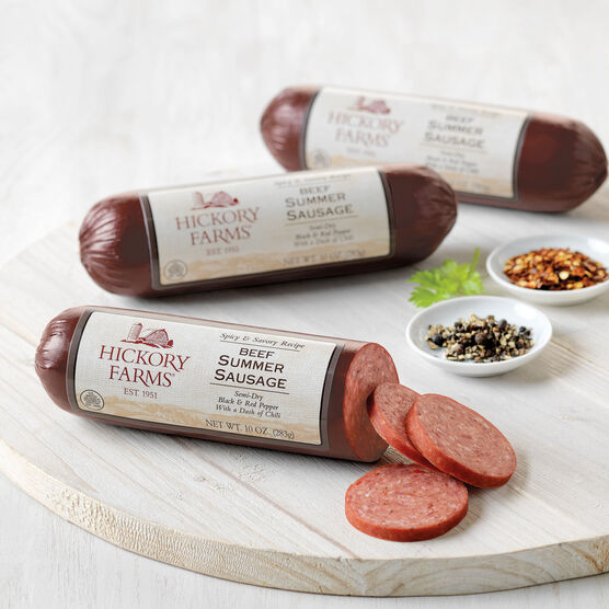 spicy & savory beef summer sausage - 3 pack
