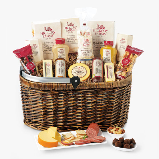 Gift baskets specialty gourmet food gifts hickory farms