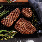 Pfaelzer's complete Steak Assortment includes filets, new your strip steaks, and boneless ribeye steaks