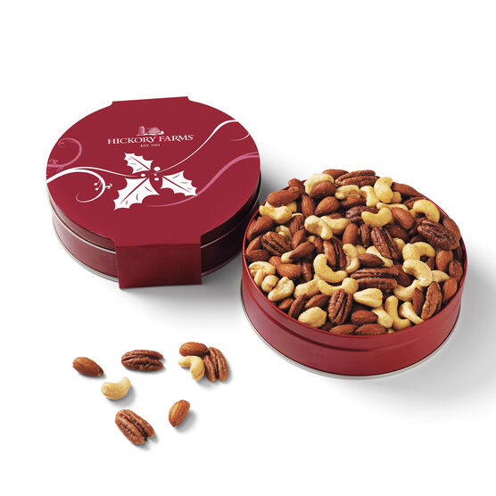 Assortment of premium roasted cashews, almonds, and pecans