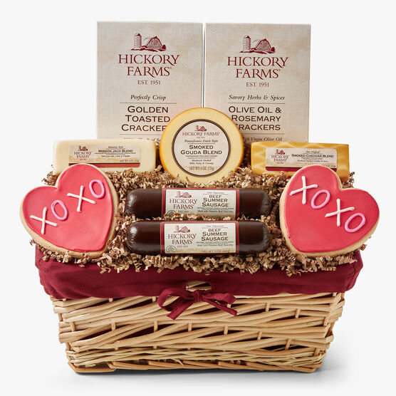 Valentine's Day Deluxe Gift Basket