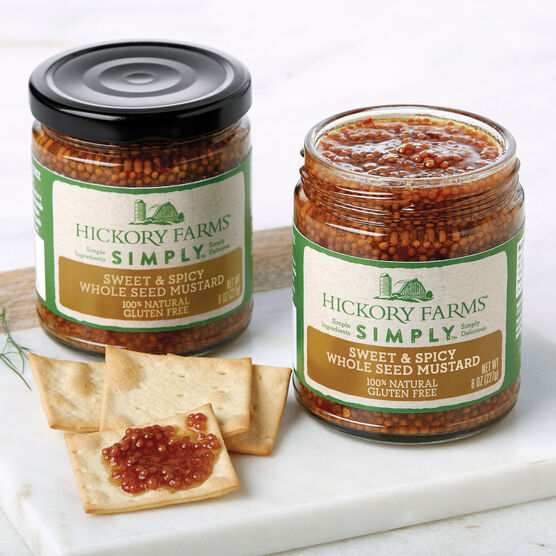 Hickory Farms Simply Sweet & Spicy Whole Seed Mustard  2 Pack