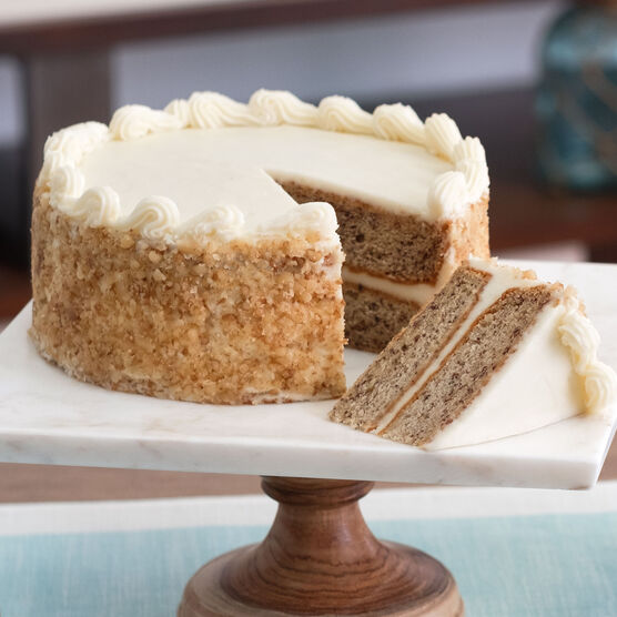 Decadent Banana Walnut Layer Cake