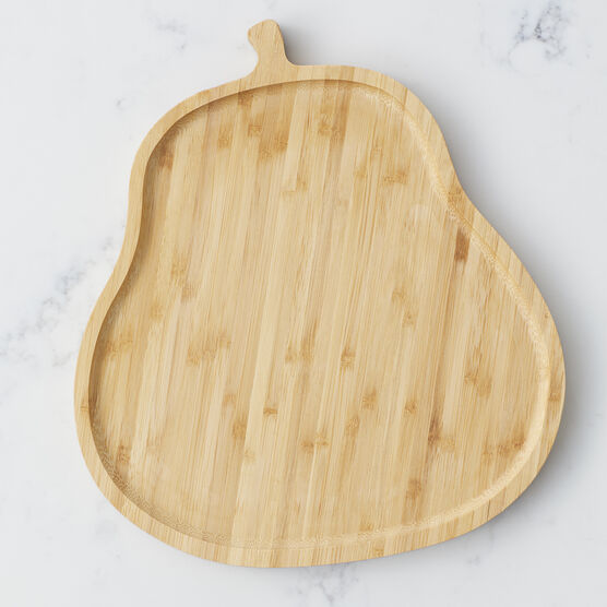 Pear shaped board with dried fruit