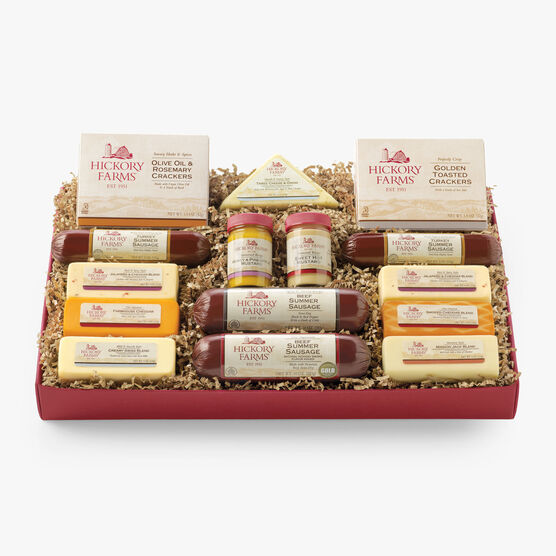Gourmet cheese gifts baskets spreads hickory farms