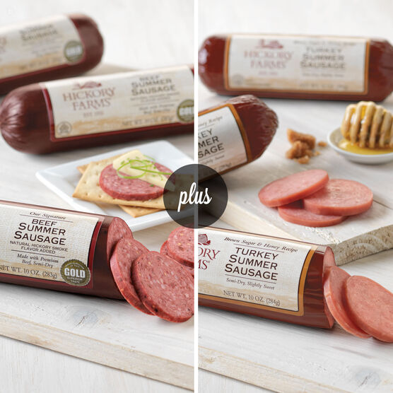 Beef Summer Sausage & Turkey Summer Sausage Combo