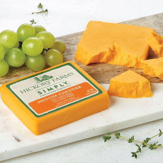 Simply Hickory Farms Medium Cheddar 2 Pack
