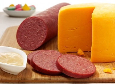 Gourmet sausage and cheese from Hickory Farms