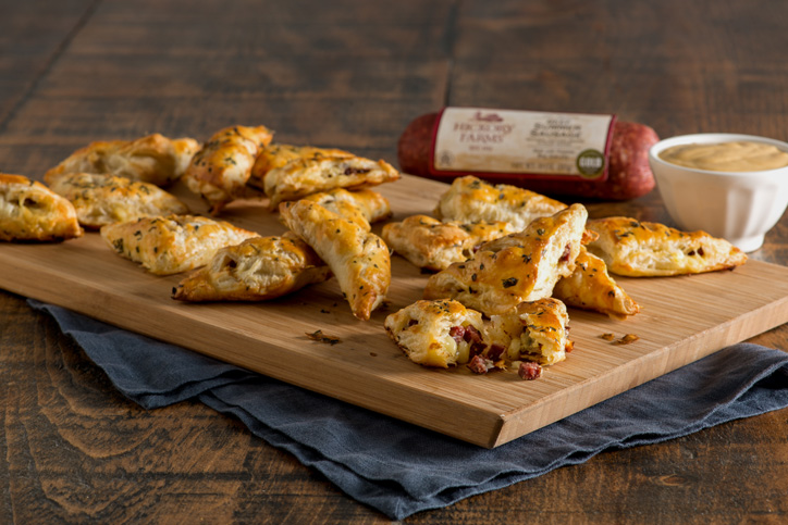 Sausage and Smoked Cheddar Parcels