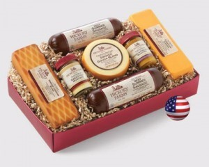summer sausage and cheese gift basket