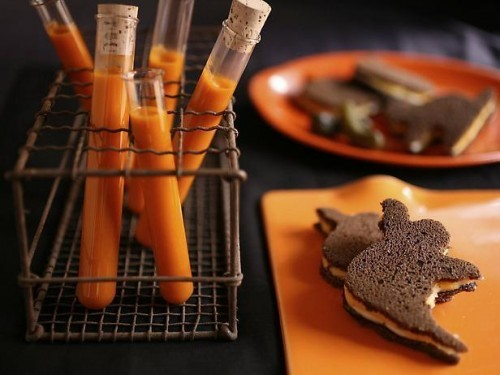 Halloween treats using gourmet cheese from Hickory Farms