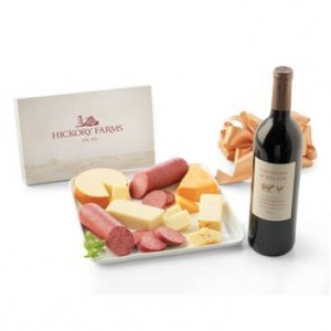Wine and cheese pairings from Hickory Farms
