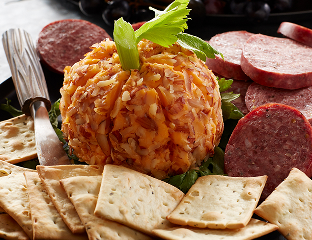 pumpkin cheese ball for Halloween