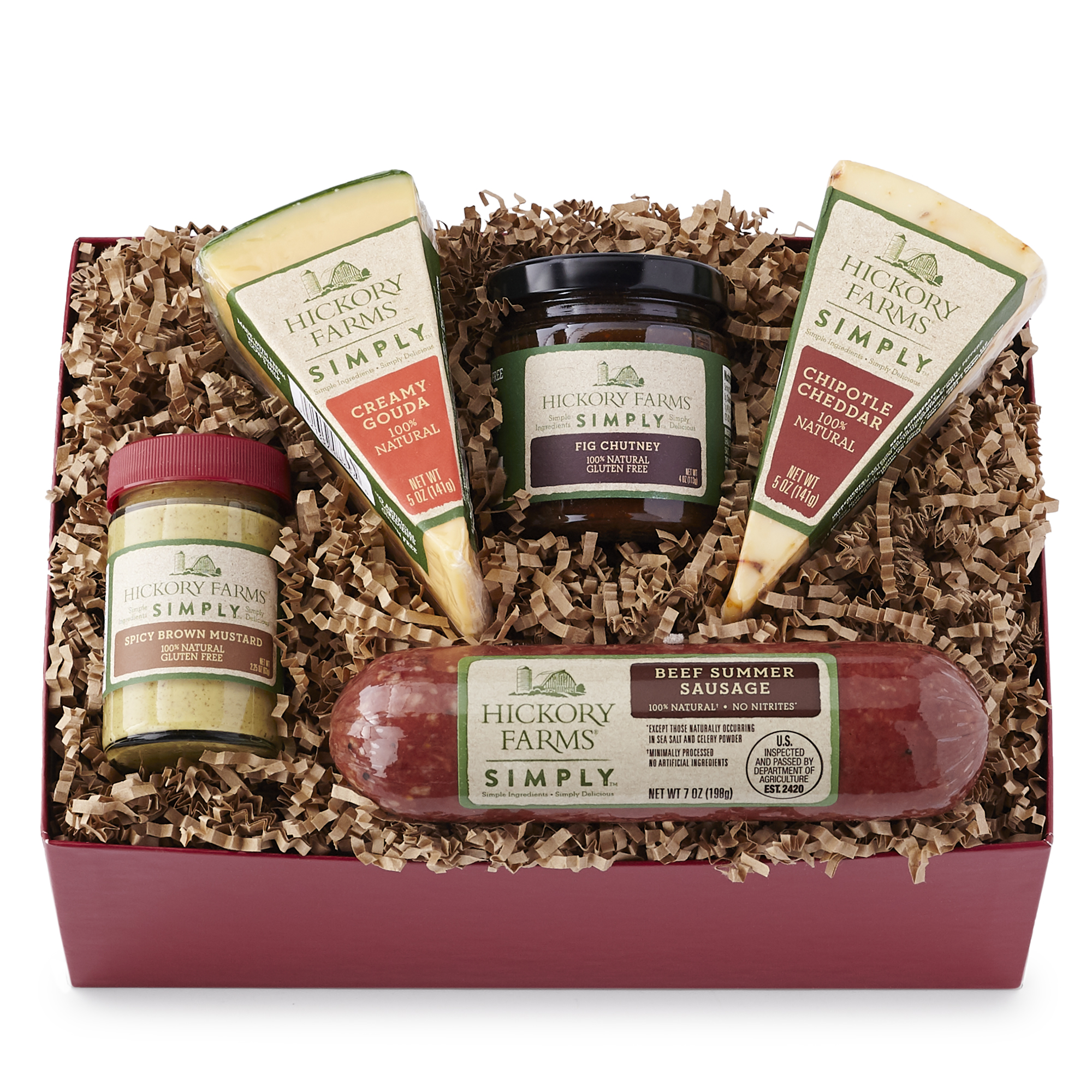 Hickory Farms Simply Sausage Amp Cheese Duo Gift Box