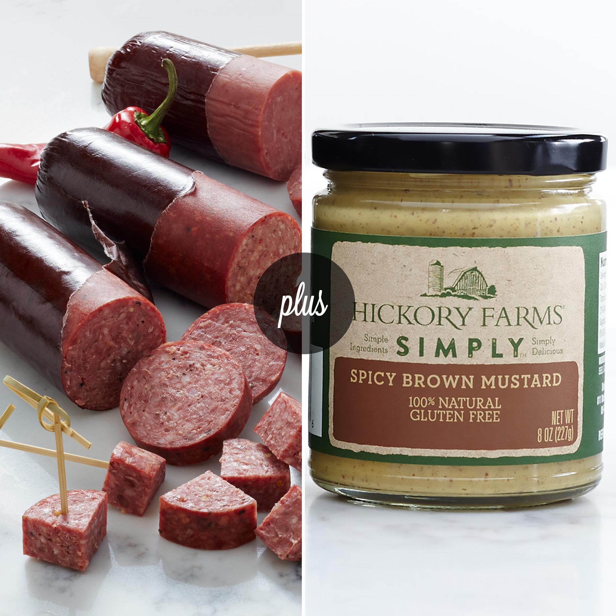 Sausage Flight with Mustard