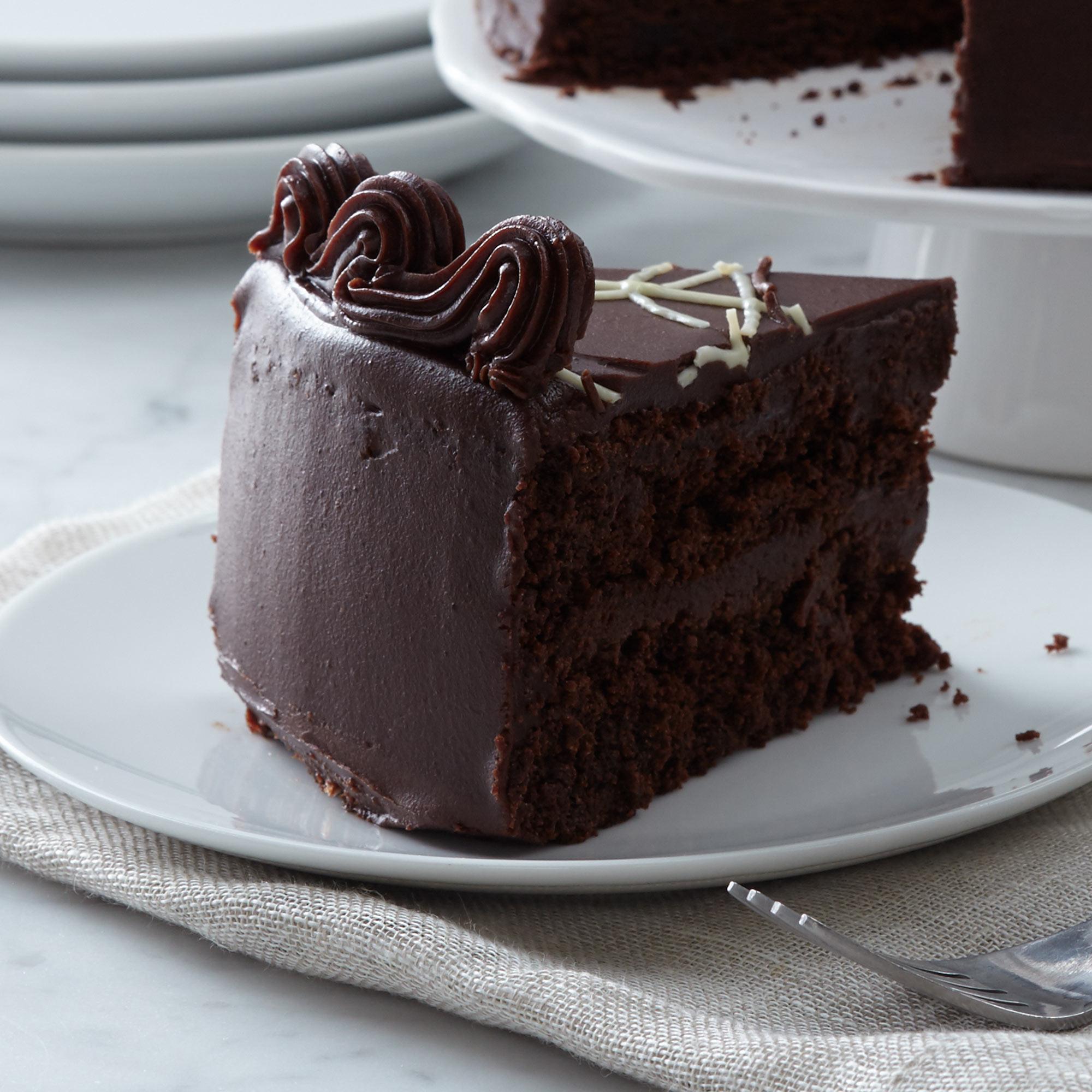 Intense Chocolate Fudge Layer Cake Hickory Farms