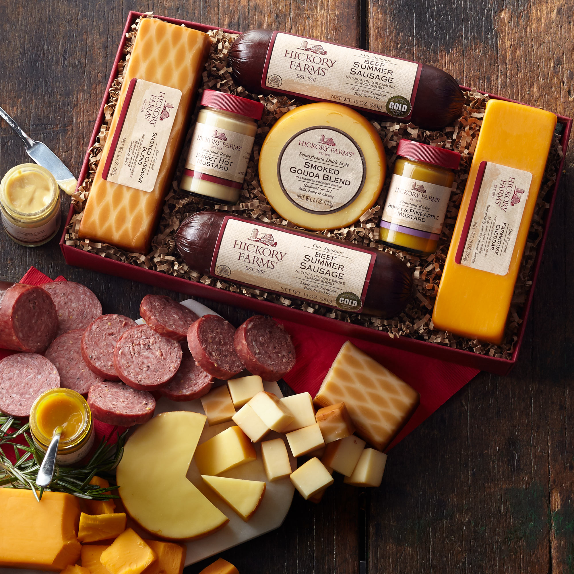 Summer Sausage and Cheese Gift Box Gift | Purchase Our Gourmet ...
