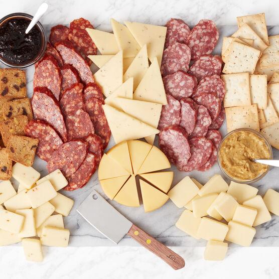 Gourmet Salami & Cheese Gift Basket Charcuterie Spread
