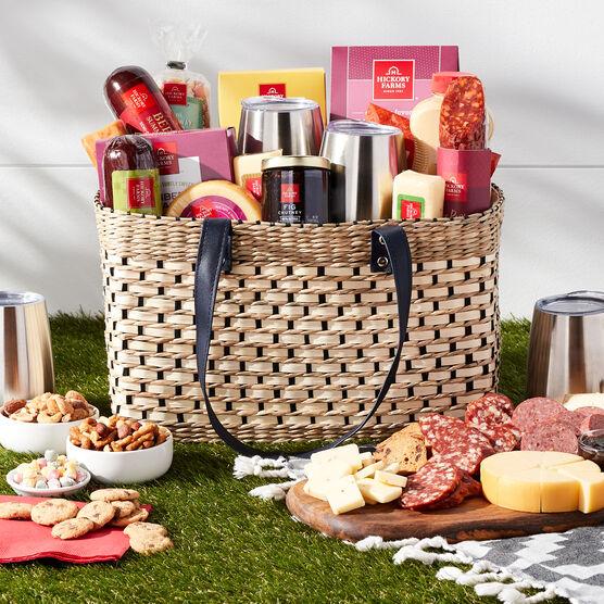 Deluxe Gourmet Picnic Gift Basket - Outdoor Picnic Basket