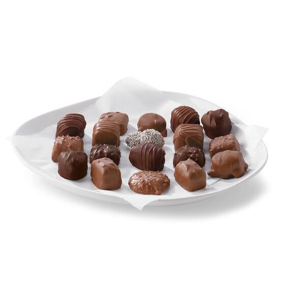 our signature flavors include dark chocolate sea salt caramel, almond butter toffee, espresso coffee cream, and more
