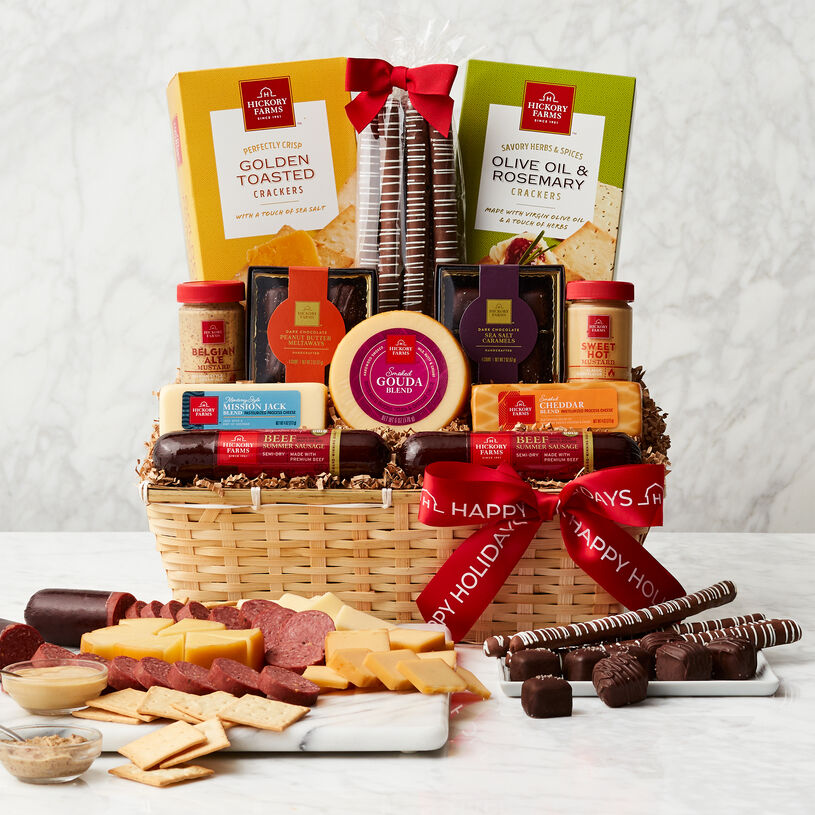 Happy Holidays Favorite Flavors Gift Basket