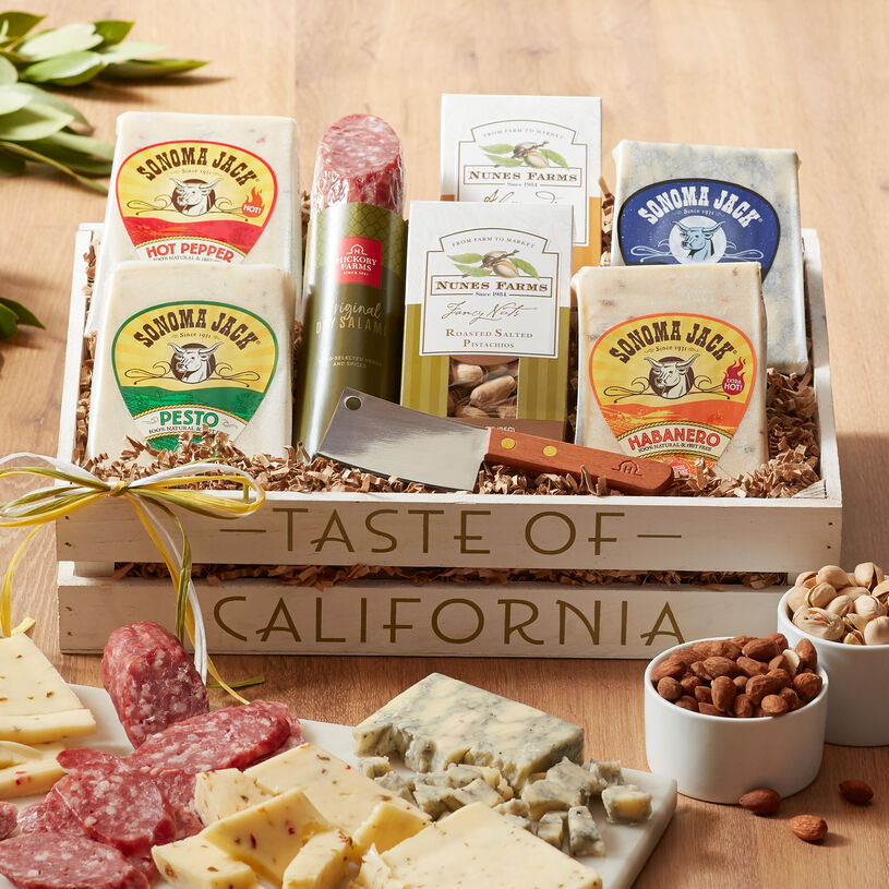 Give a gift that lets them create a tasty California-inspired charcuterie board with fresh cheeses from Sonoma Creamery.