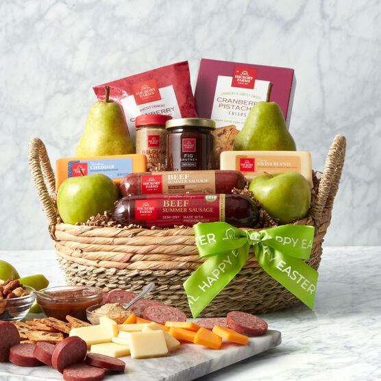 Alternate view of Easter Premium Fruit & Snack Gift Basket