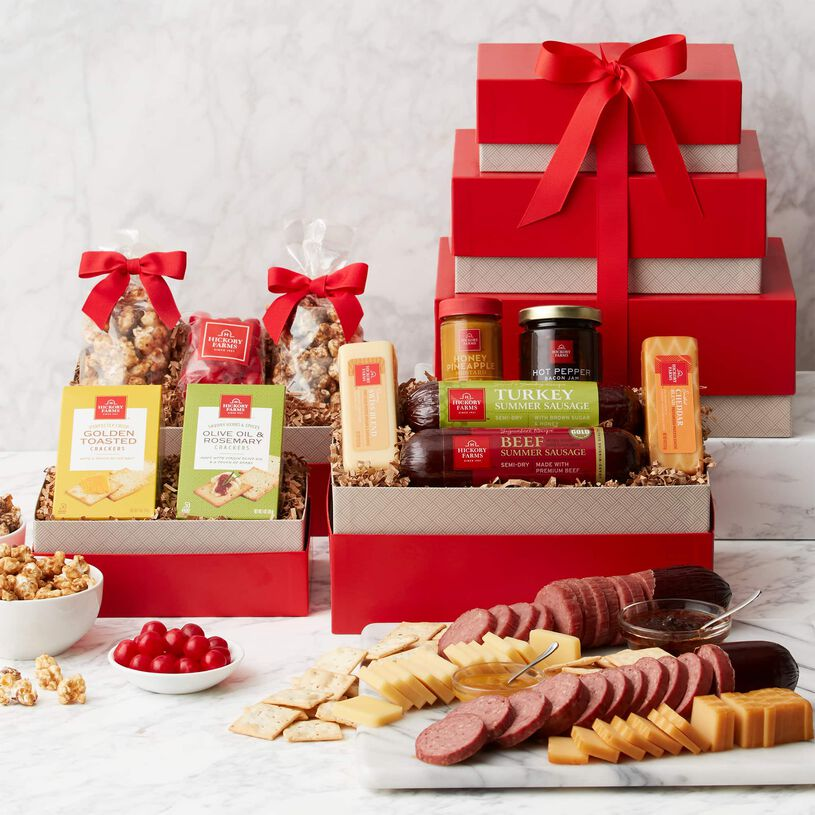 Premium Sweet & Savory Gift Tower - Tower and Contents