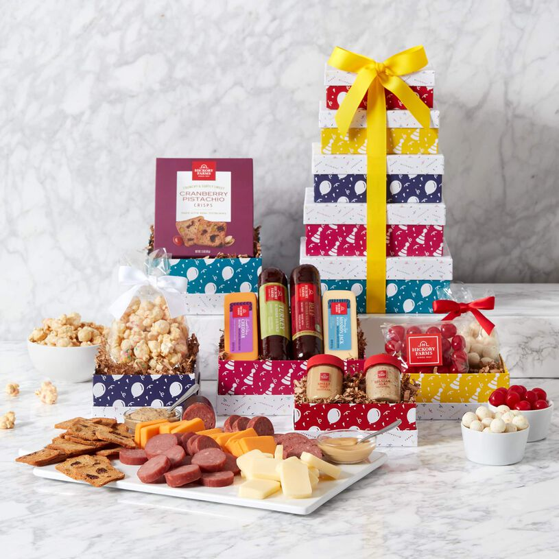 Premium Happy Birthday Gift Tower and Contents