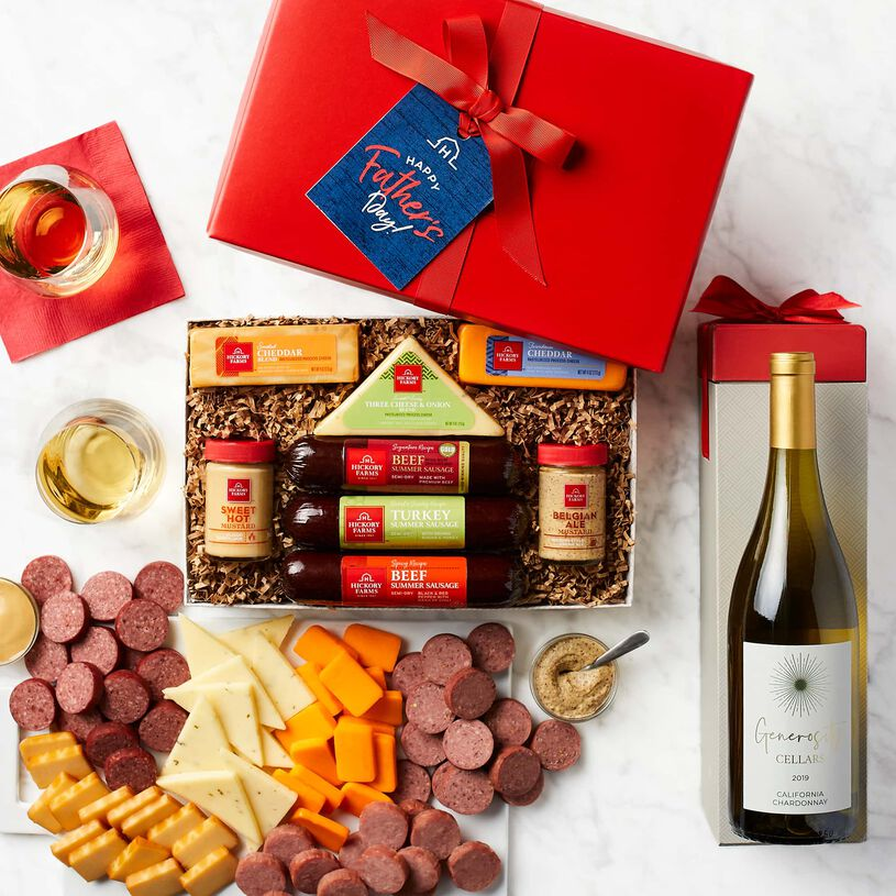 Father's Day Hearty Bites & Chardonnay Gift Set