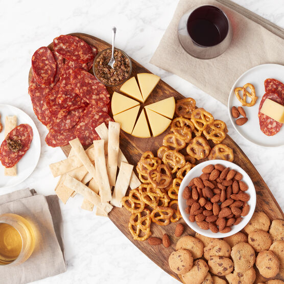 California Getaway Wine Gift Basket Charcuterie Spread