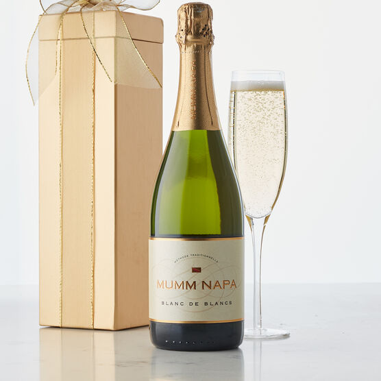 """Meaning """"white of whites,"""" Blanc de Blancs is an incredible blend of Chardonnay and Pinot Gris from Napa Valley."""