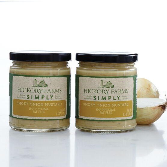 100% natural Simply smoky onion mustard