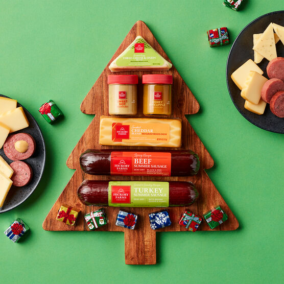 Christmas Tree Board Gift Set Holiday Setting