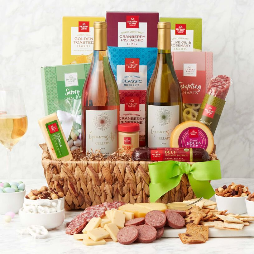 Spring Deluxe Sip and Snack Gift Basket