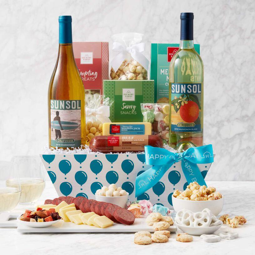Birthday Premium Treats and Wine Gift Basket