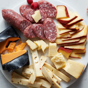 Alternate View of Gourmet Cheese & Salami Gift Box Plated